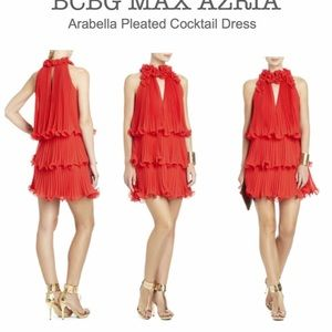 BCBG Maxazria Arabella Pleaded cocktail dress